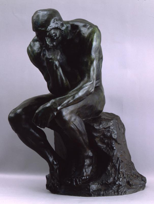 The Thinker (Le Penseur, originally titled The Thinker: The Poet , Fragment of a Door)