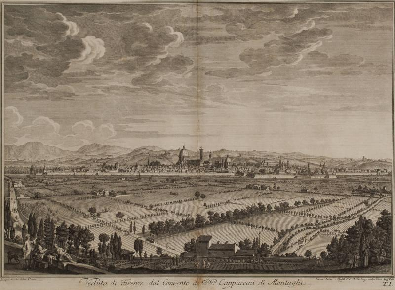 View of Florence from Montughi (after Giuseppe Zocchi)