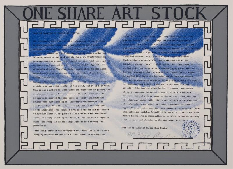 1 Share Art Stock
