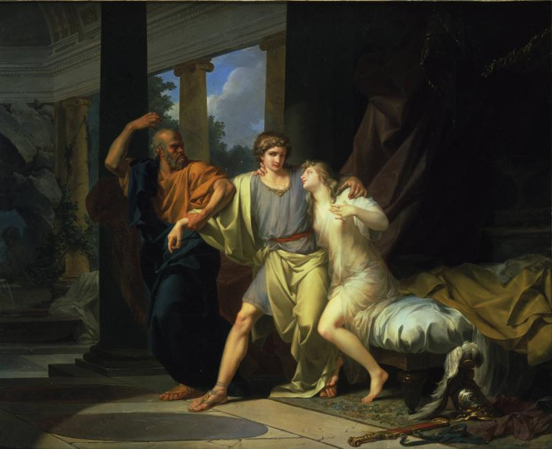Socrates Tearing Away Alcibiades from the Embrace of Sensuality