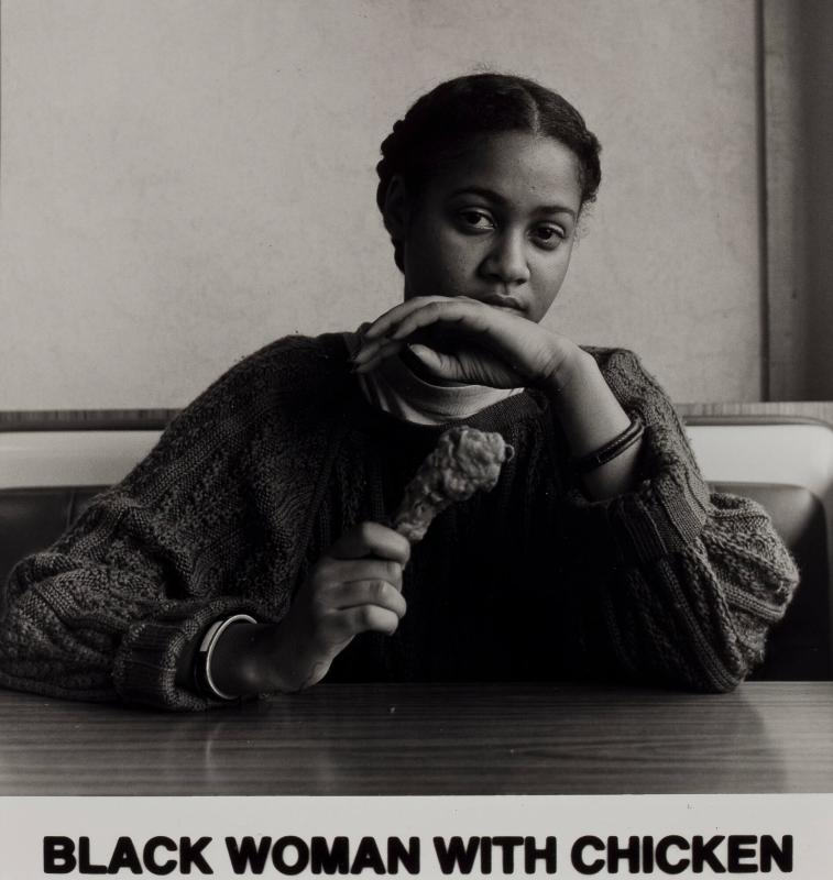 Black Woman with Chicken