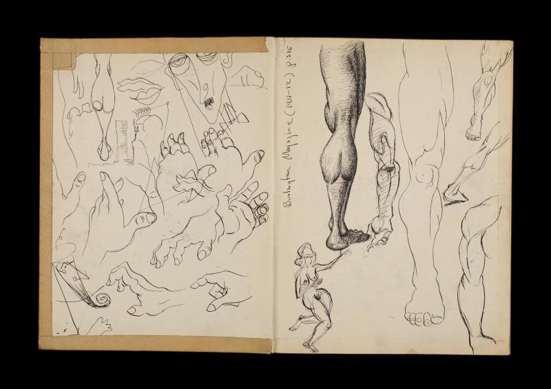 Art Institute, H. C. Westermann [Sketchbook #3, leaf 1]