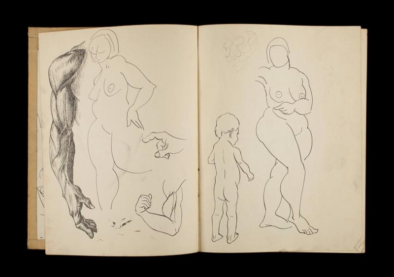 Art Institute, H. C. Westermann [Sketchbook #3, leaf 2]