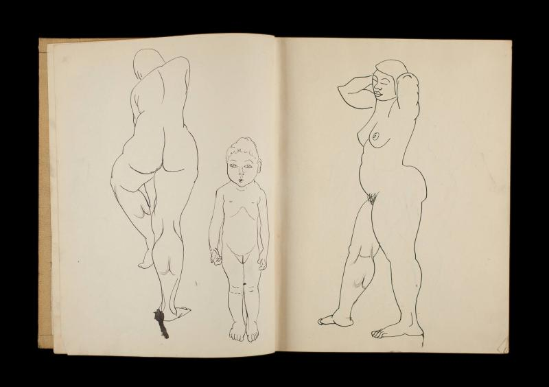 Art Institute, H. C. Westermann [Sketchbook #3, leaf 3]