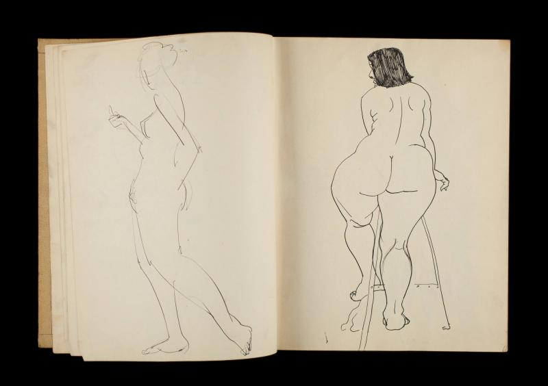Art Institute, H. C. Westermann [Sketchbook #3, leaf 7]