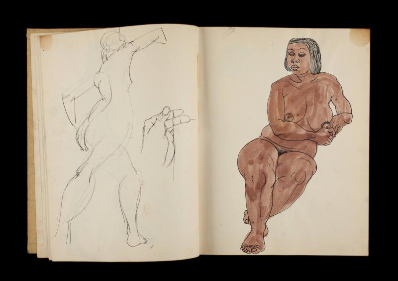 Art Institute, H. C. Westermann [Sketchbook #3, leaf 9]
