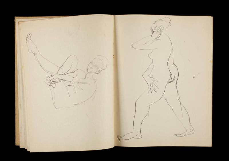 Art Institute, H. C. Westermann [Sketchbook #3, leaf 12]