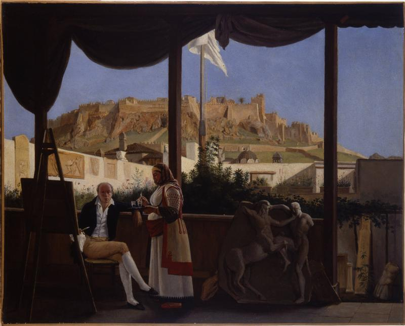 Portrait of M. Fauvel, the French Consul, with View of the Acropolis